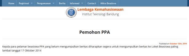 beasiswa PPA 17 oktober